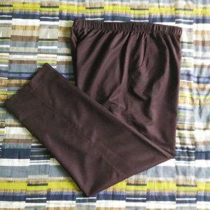 Alia Brown Pull On Casual Pants